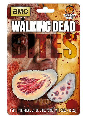 "Prothèse en latex morsures ""The Walking Dead"""